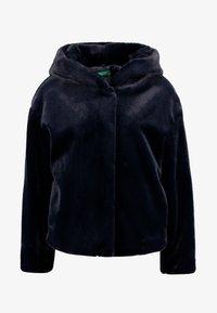 Benetton - SHORT HOODED JACKET - Light jacket - navy - 3