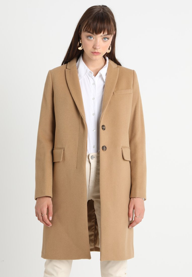 Benetton - CLASSIC TAILORED COAT - Zimní kabát - camel beige