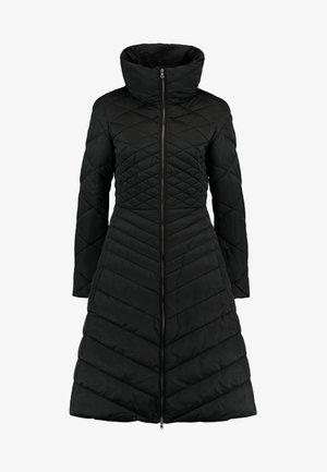 LONGLINE PRINCESS FIT PADDED COAT FUNNEL NECK - Parkas - black