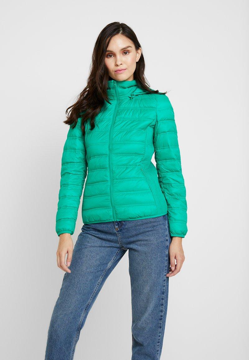 Benetton - HOODED JACKET - Down jacket - bright green