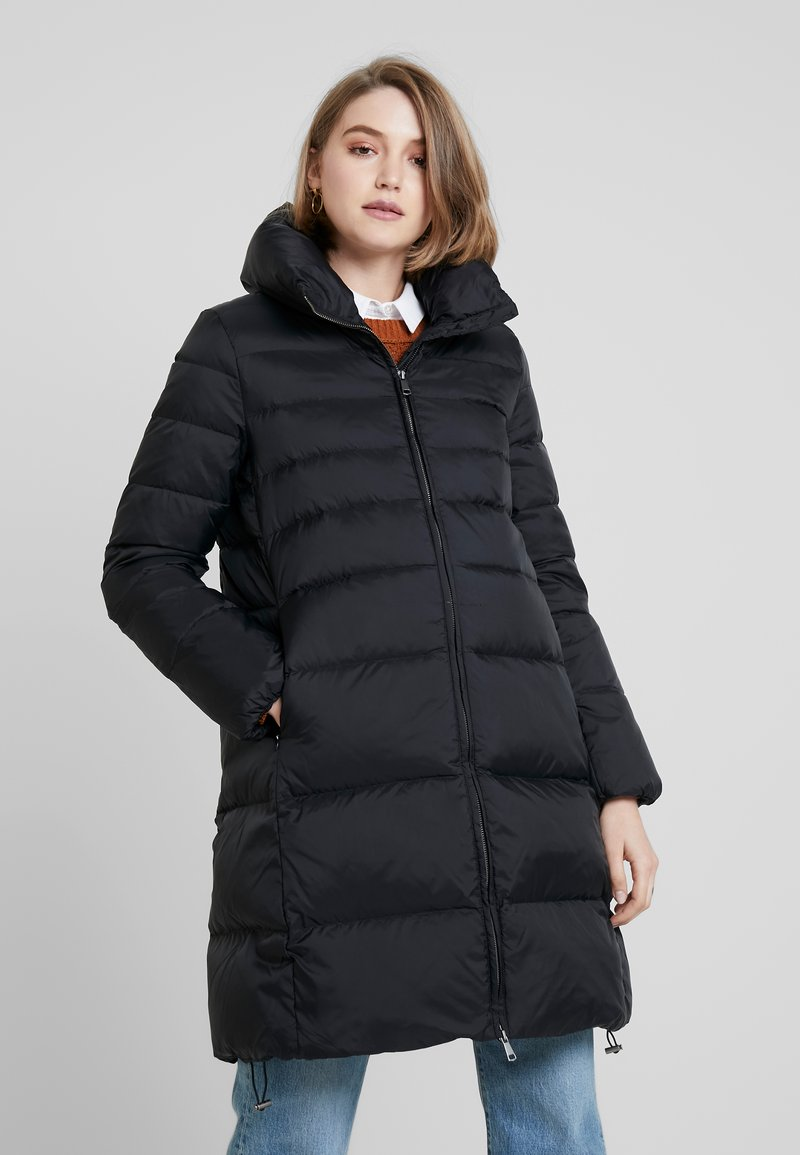 Benetton - OVERSIZED LONG COAT - Down coat - black
