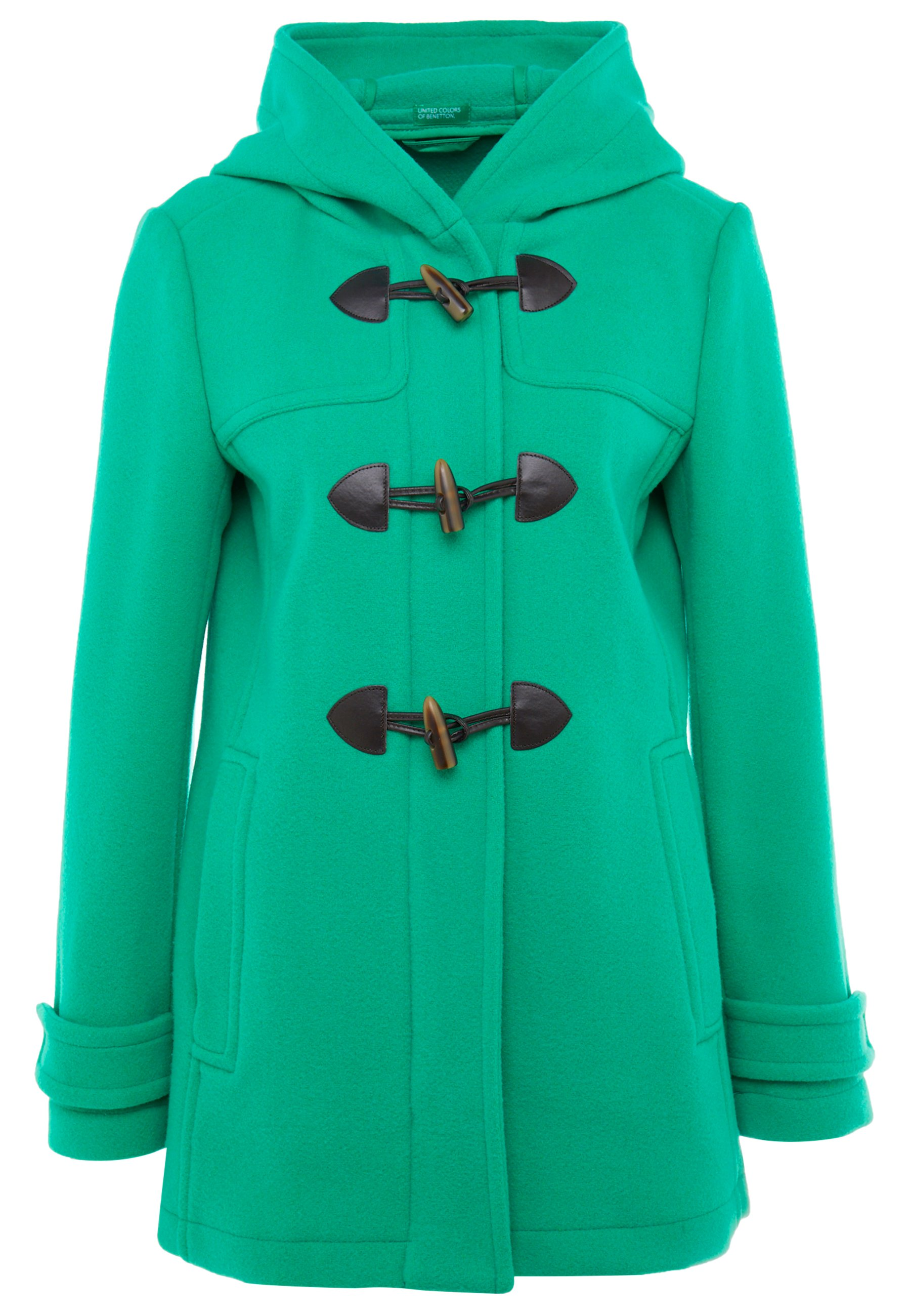 Benetton Mix Duffle Coat - Korte Jassen Bright Green UCQHbxum