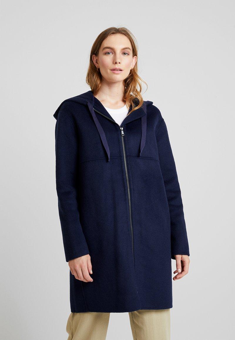 Benetton - ZIP UP HOODED JACKET - Classic coat - blue