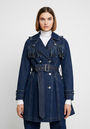 WITH FRINGES - Trenchcoat - blue