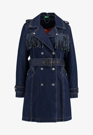 WITH FRINGES - Trench - blue
