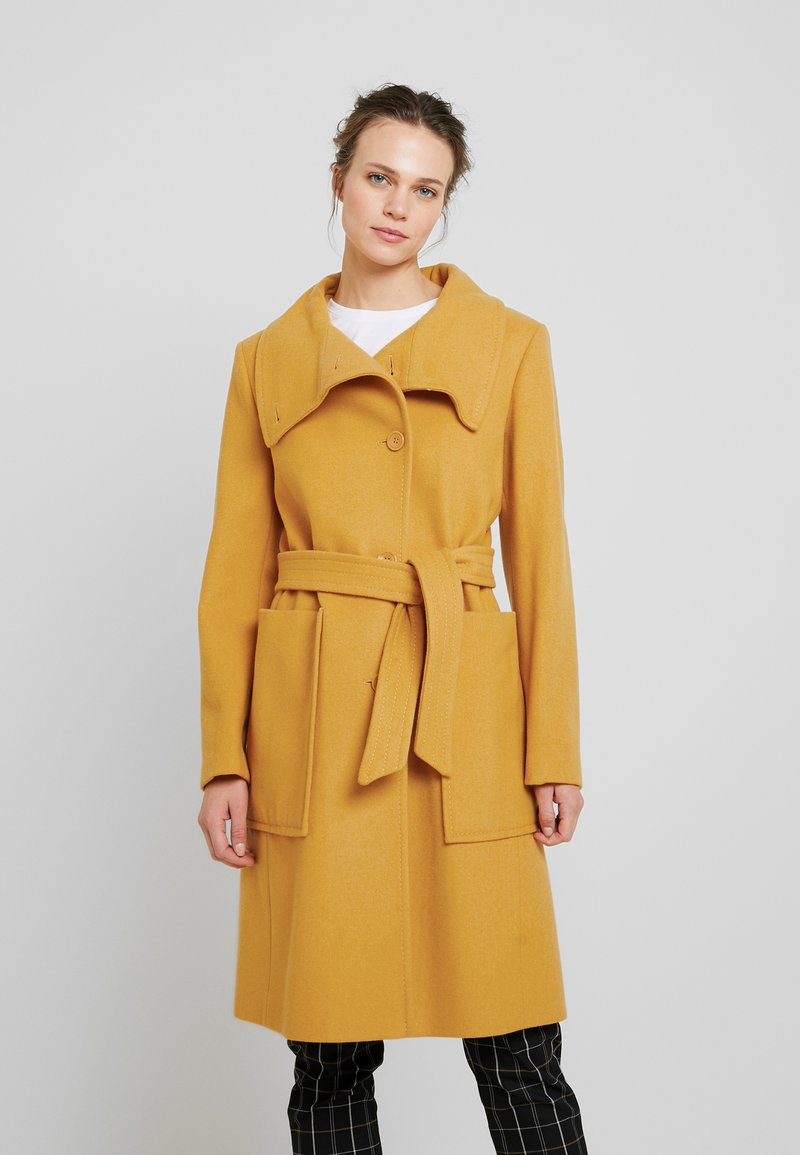 Benetton - COAT - Mantel - mustard