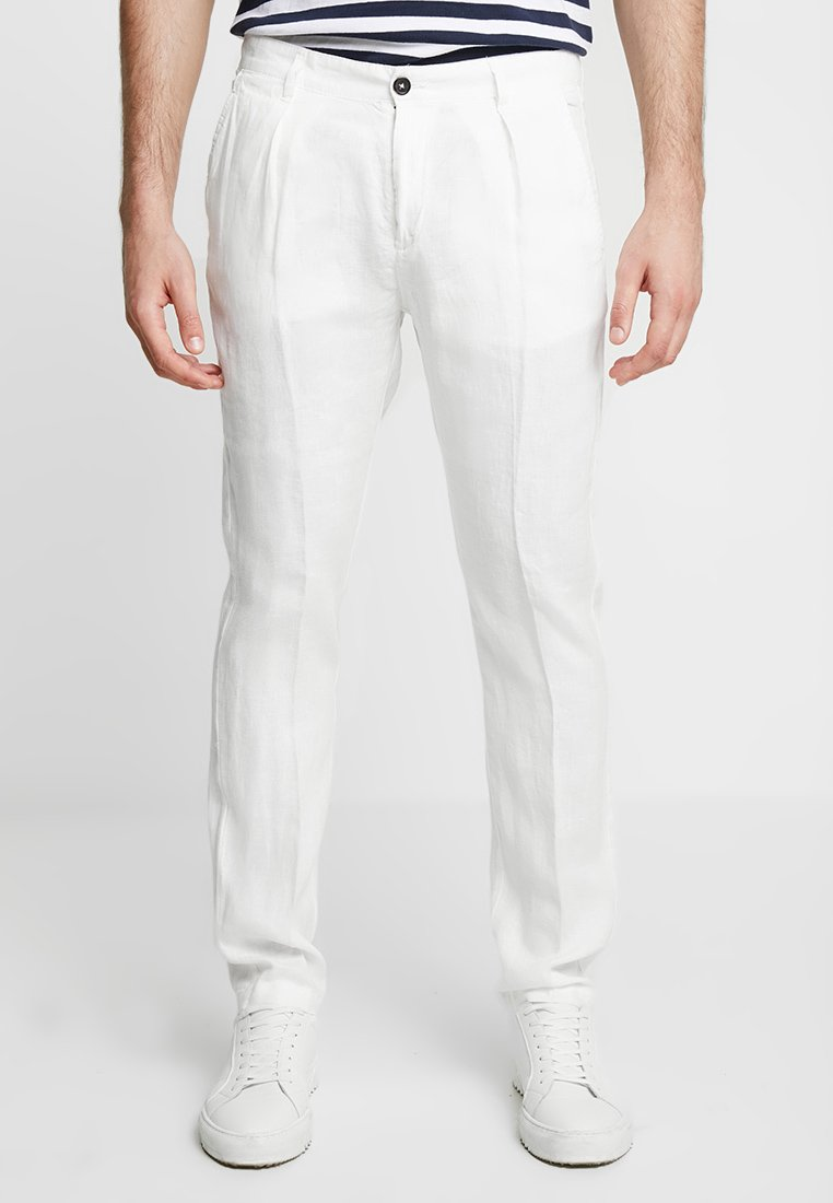 Benetton - Trousers - offwhite