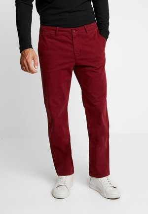 Pantalones chinos - burgundy