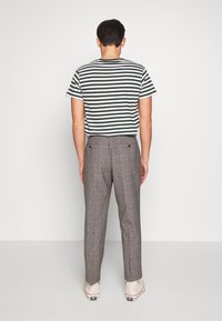 Benetton - RELAXED TROUSERS CHECK - Trousers - grey/blue - 2
