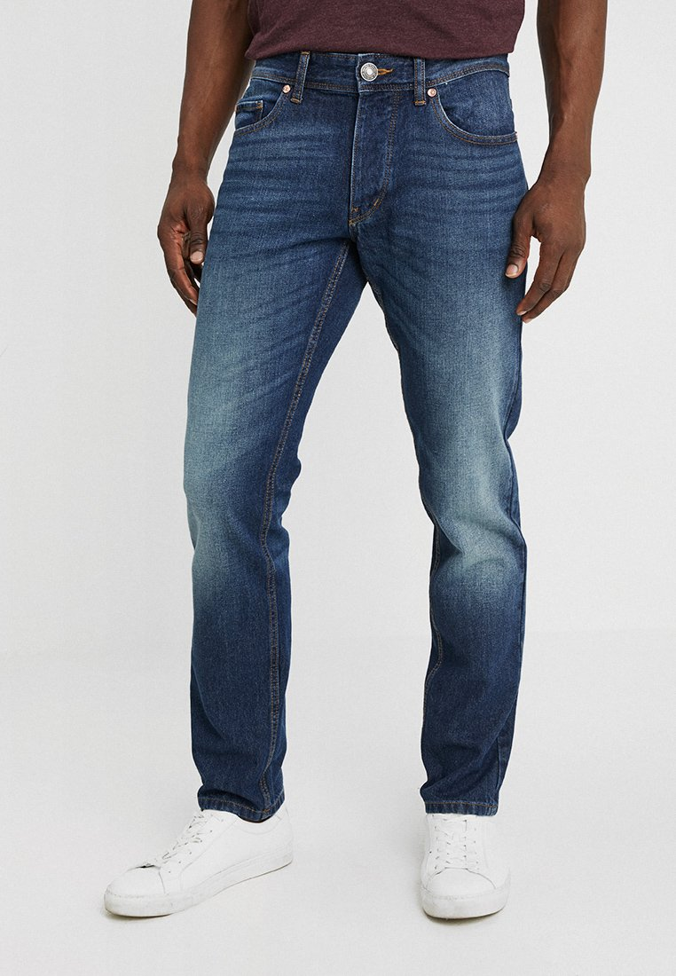 Benetton - Straight leg jeans - dark blue denim