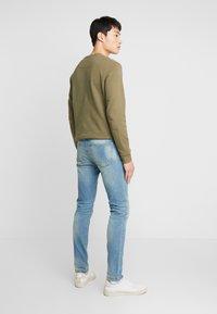 Benetton - Jeans slim fit - washed light denim - 2