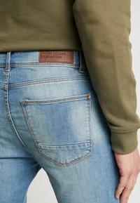 Benetton - Jeans slim fit - washed light denim - 5