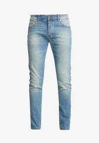 Benetton - Jeans slim fit - washed light denim - 4