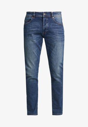 SLIM ROLLED UP - Jeans slim fit - dark blue demin