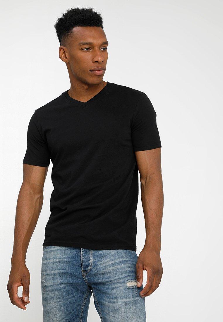 Benetton - Camiseta básica - black