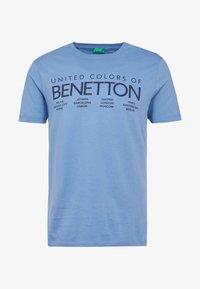 Benetton - T-shirt z nadrukiem - bluegrey - 4