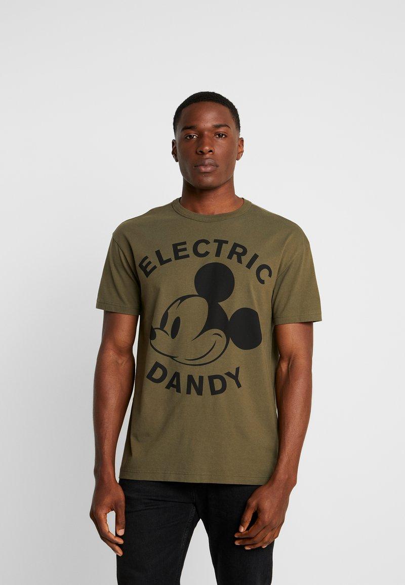 Benetton - Print T-shirt - khaki/black