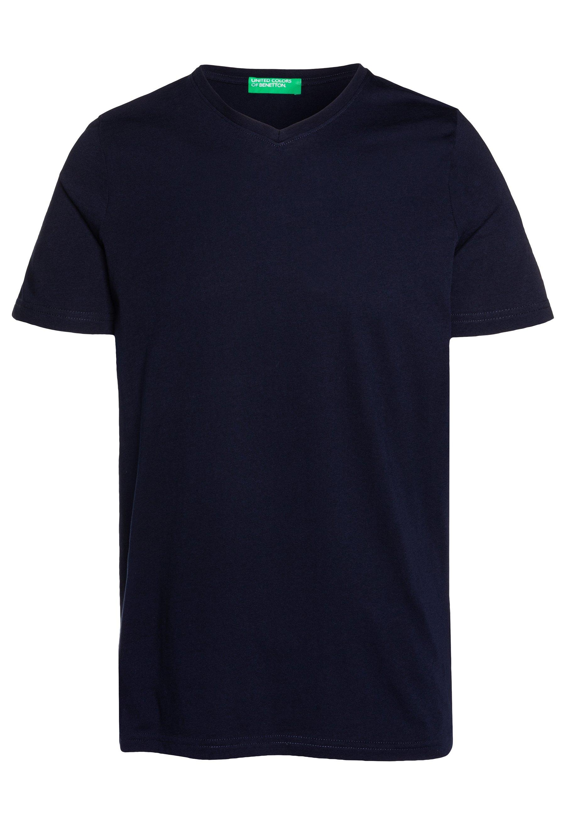 Benetton BASIC VNECK - T-shirt basique - darkblue