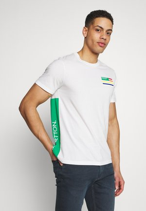 BASIC C NECK - T-shirt z nadrukiem - white