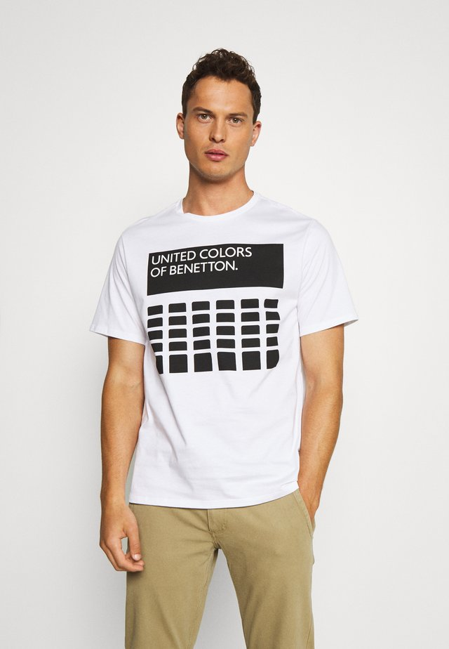CANNES - T-shirt con stampa - white