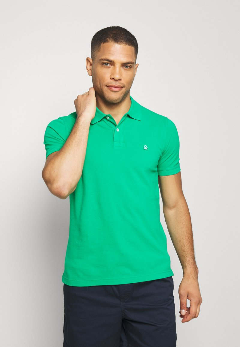 Benetton - REGULAR FIT - Polotričko - green benetton