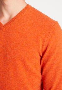 Benetton - Stickad tröja - orange melange - 4