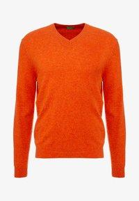 Benetton - Stickad tröja - orange melange - 3