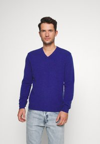 Benetton - Stickad tröja - royal - 0