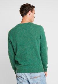 Benetton - Stickad tröja - green melange - 2