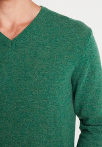 Benetton - Stickad tröja - green melange - 4