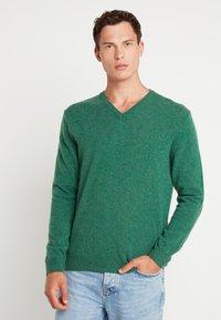 Benetton - Stickad tröja - green melange - 0