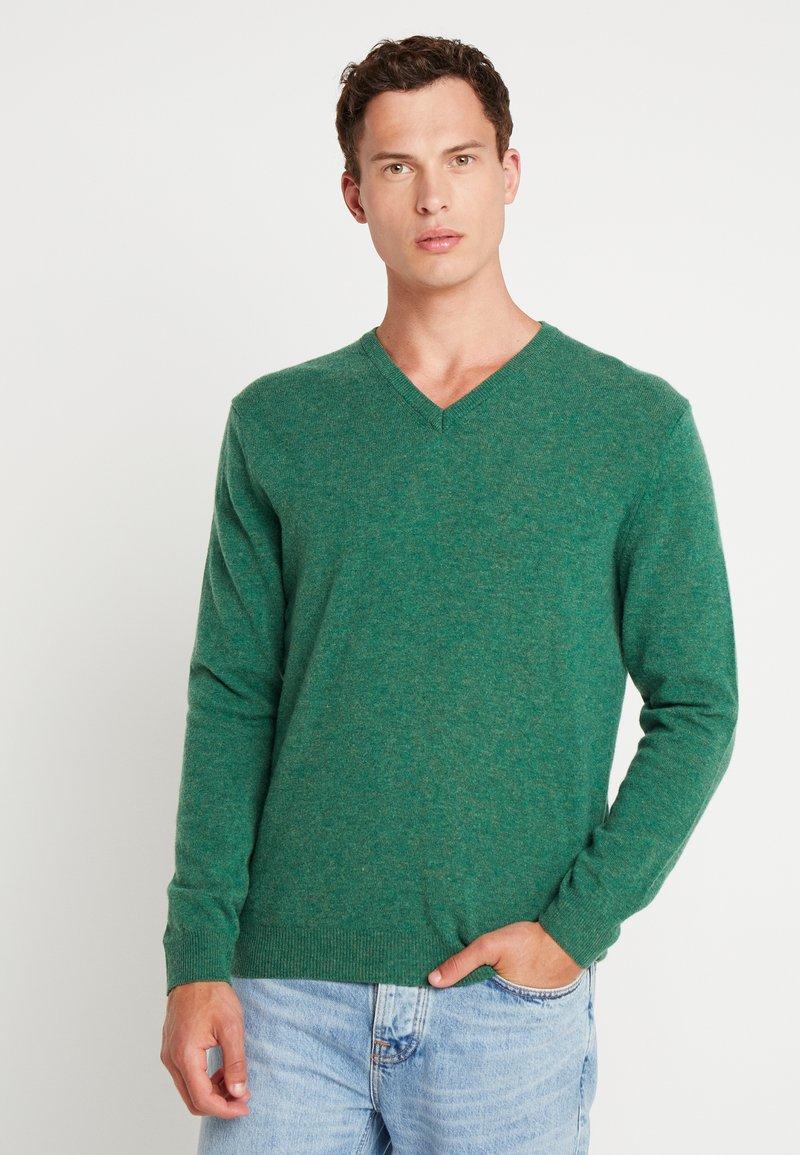 Benetton - Stickad tröja - green melange