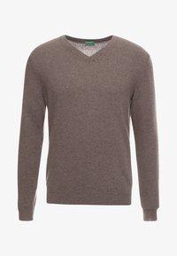 Benetton - Stickad tröja - brown - 4