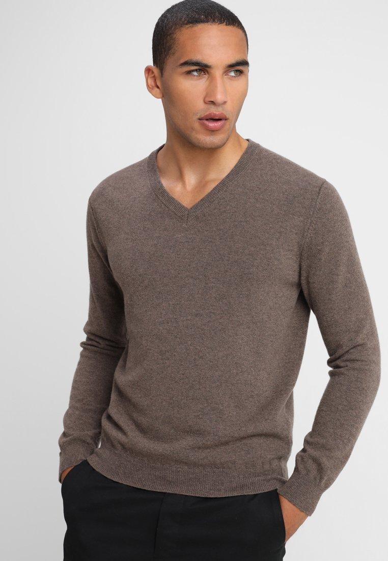 Benetton - Stickad tröja - brown