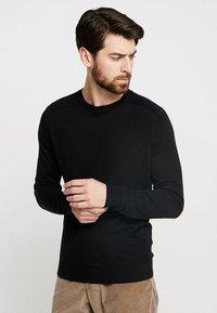 Benetton - Stickad tröja - black - 0
