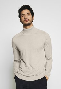 Benetton - ROLL NECK - Strikkegenser - light beige - 0