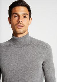 Benetton - ROLL NECK - Sweter - melange dark grey - 3