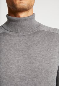 Benetton - ROLL NECK - Sweter - melange dark grey - 5