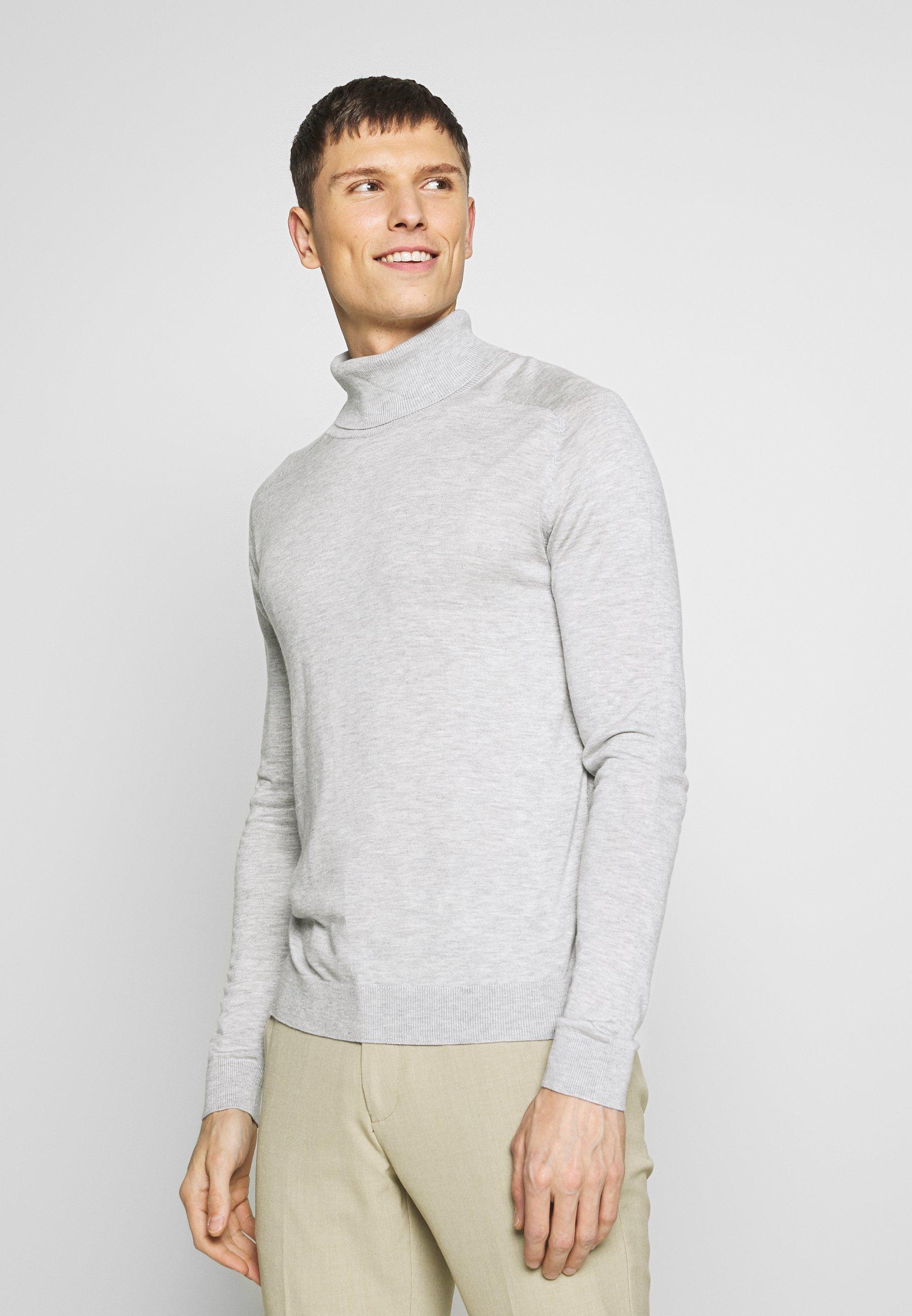 Benetton ROLL NECK - Sweter - light grey