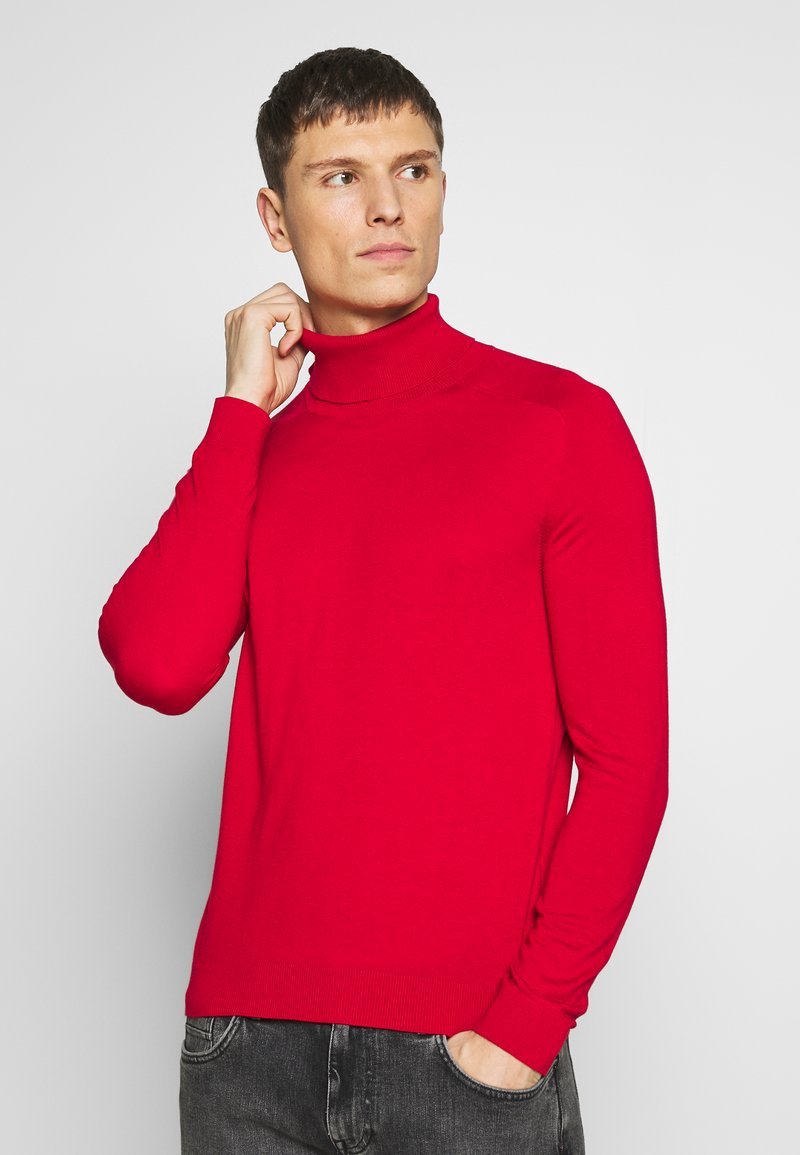 Benetton - ROLL NECK - Pullover - red