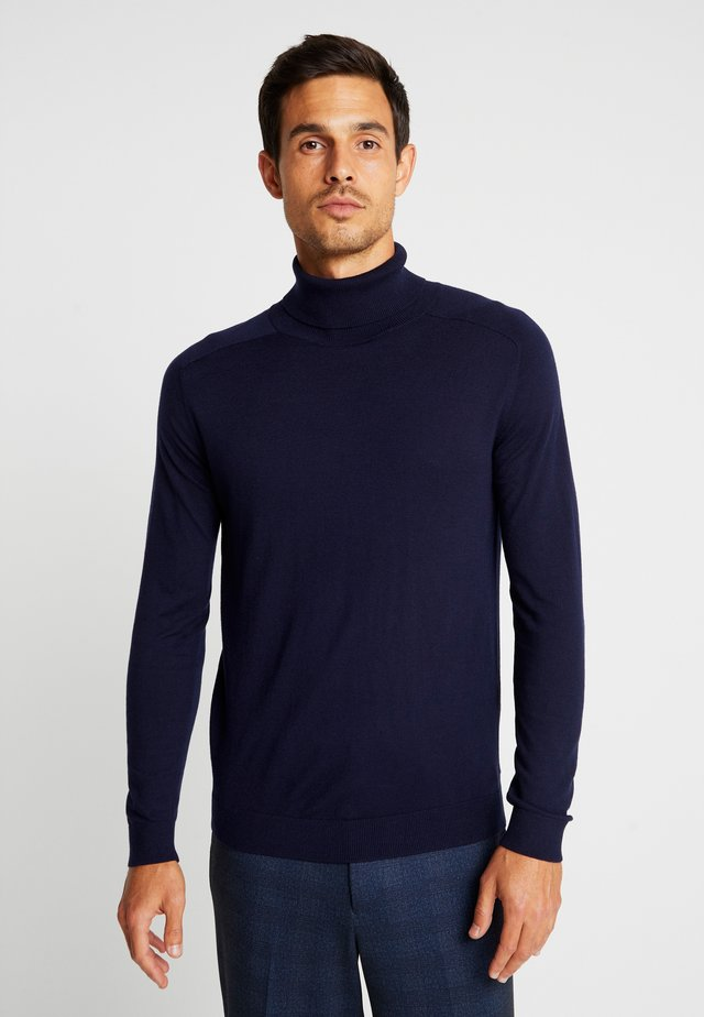 ROLL NECK - Stickad tröja - dark blue