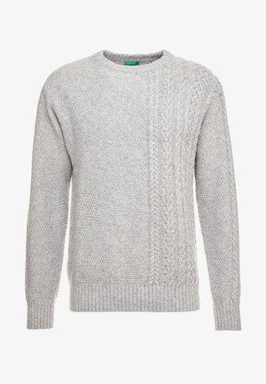 Svetr - melange light grey