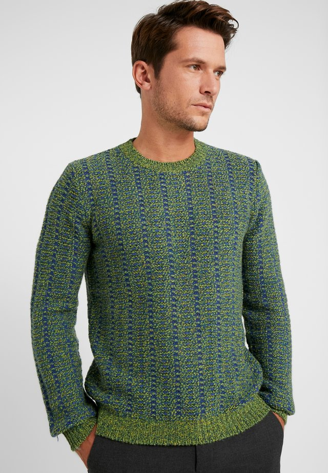Stickad tröja - blau grün