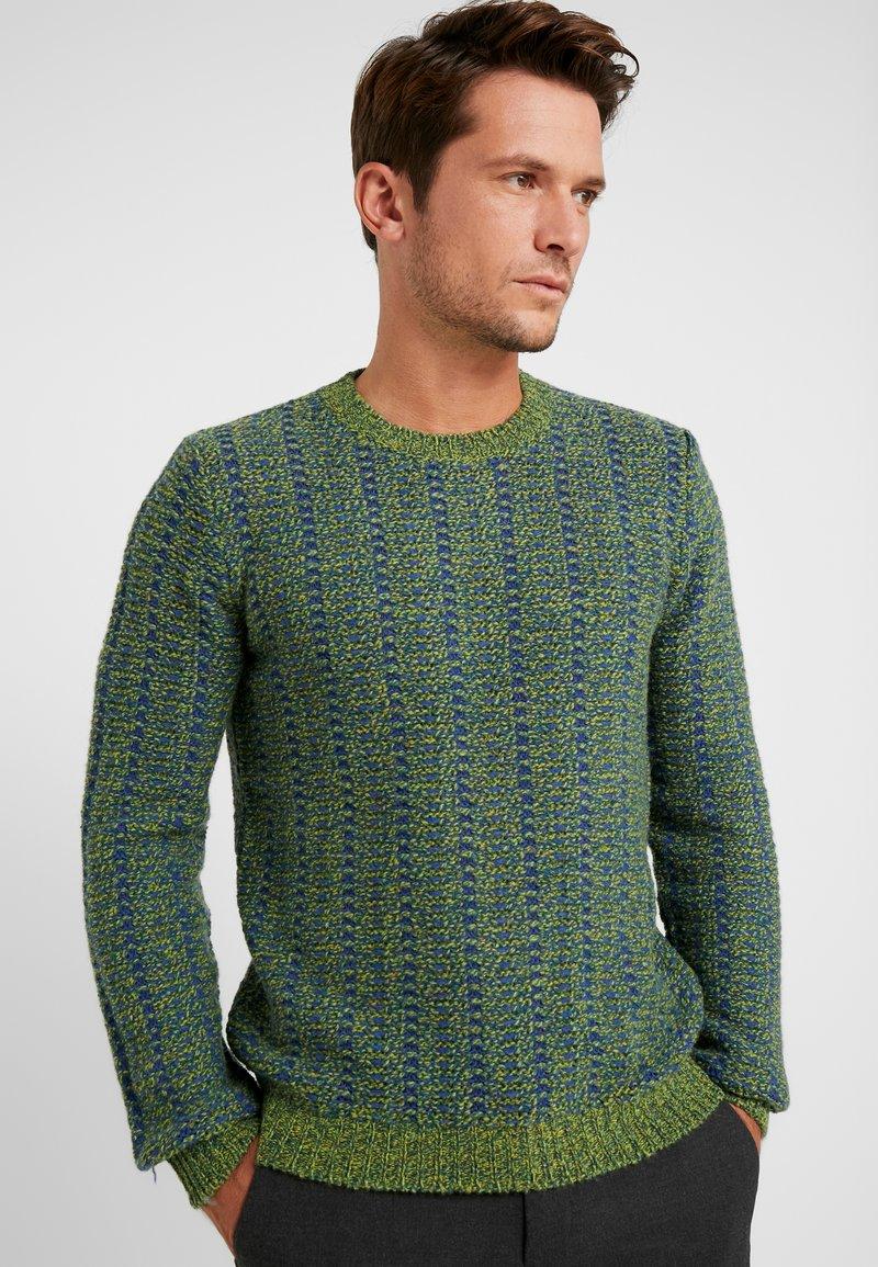 Benetton - Stickad tröja - blau grün