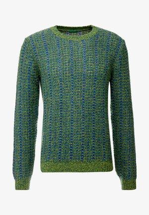 Sweter - blau grün