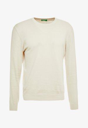 Stickad tröja - light beige