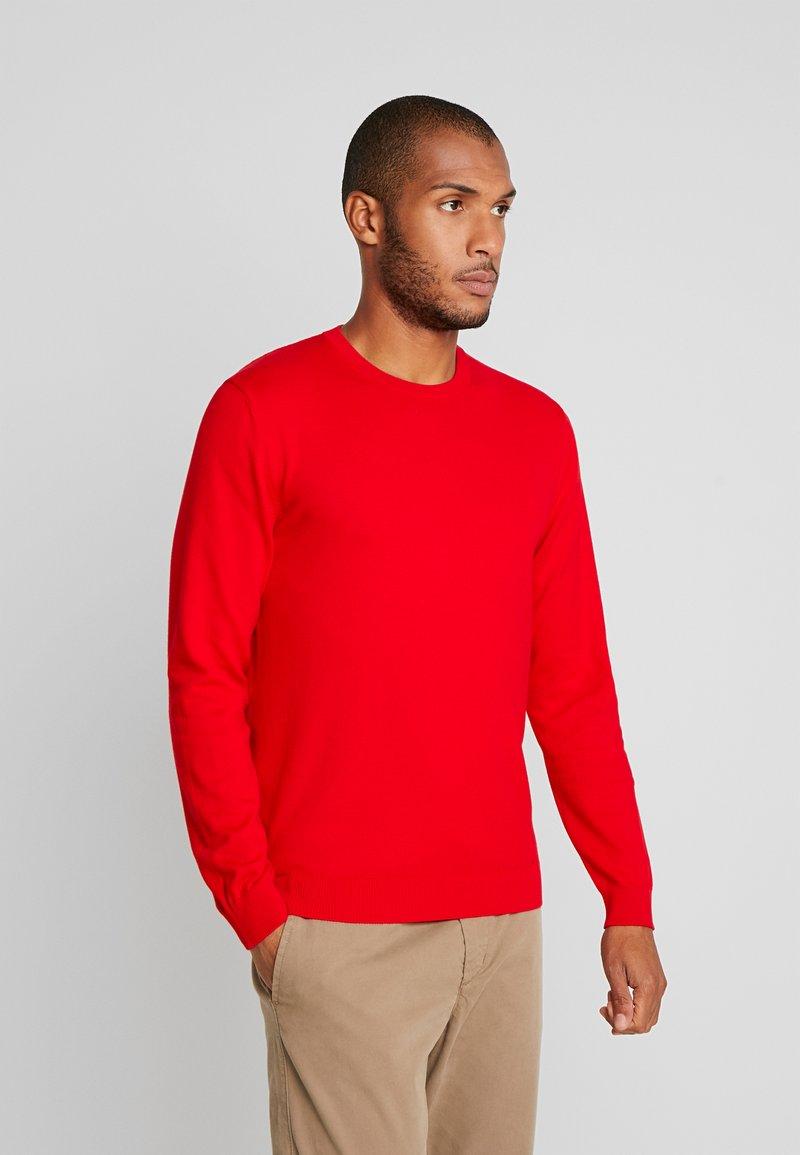 Benetton - Stickad tröja - red