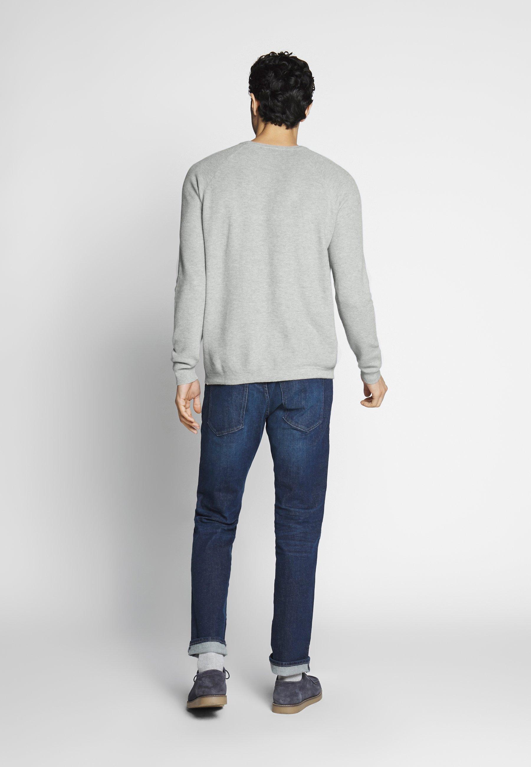 Benetton STRUKTUR - Sweter - light grey