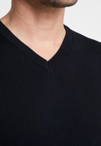 Benetton - V NECK - Stickad tröja - black - 4