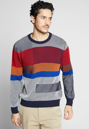 COLOR BLOCKING - Jumper - grey